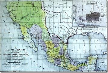 Carte du Mexique en 1847