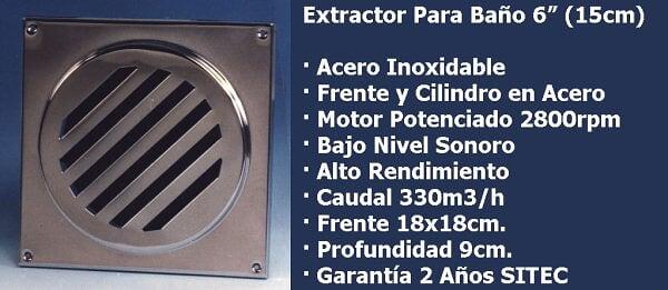 Extractor De Aire Para Baño Lowes:Extractor De Aire Para Baño 6 Blanco Sitec Motor Potenciado