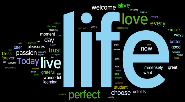 life affirmations wordle
